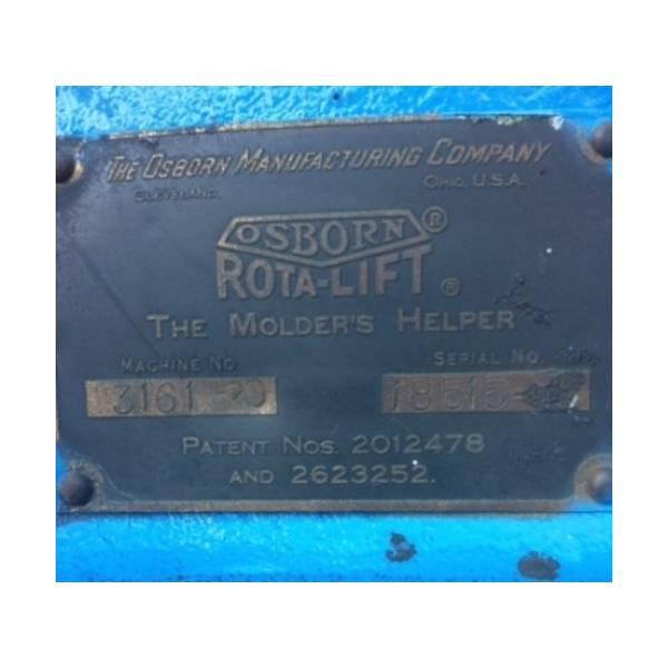 Osborn 3161 Rota Lift Molding Machine A2790 Sold Les