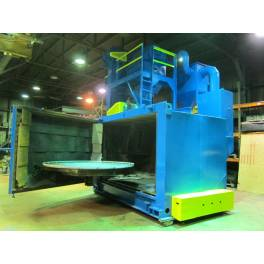 "96"" WHEELABRATOR swing table Shotblast (AS2909) SOLD"
